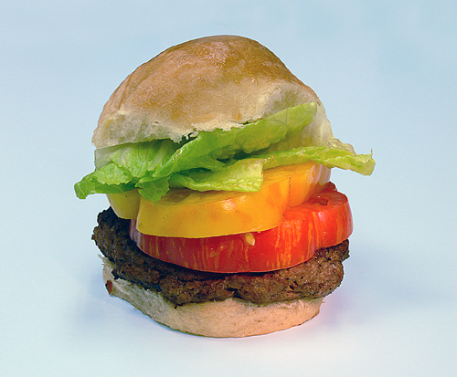 The new Heirloom Tomat-O Burger. (Photo courtesy of Best-O-Burger)