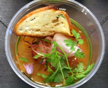 Foie gras custard.