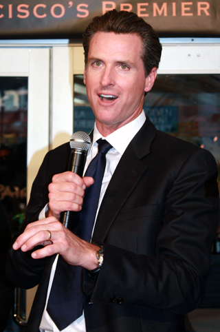 Mayor Newsom.