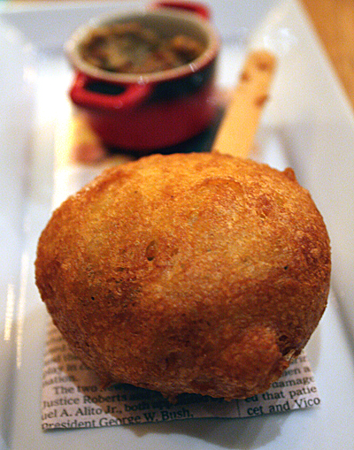 The corndog version of haggis.
