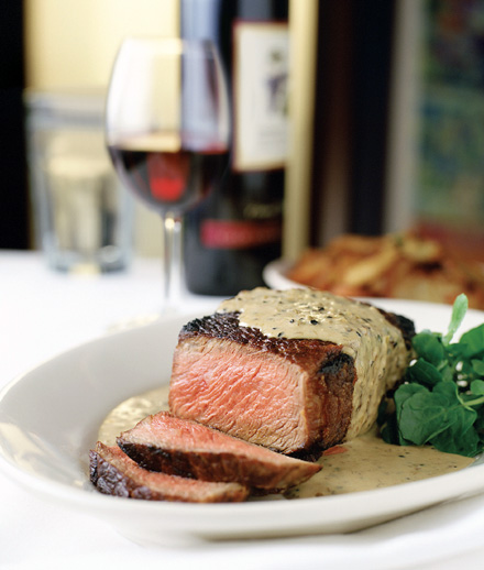 Steak au poivre at Morton's The Steakhouse. (Photo courtesy of Morton's)