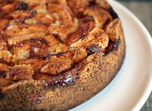 A tender, buttery cake filled with sweet apples.