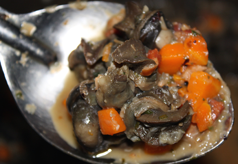 Our braised escargot dish.