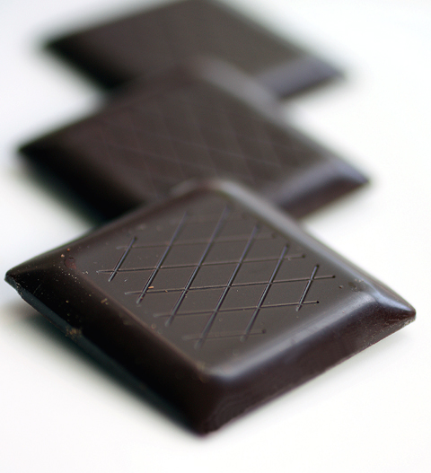 Skinny chocolates with a weighty flavor.