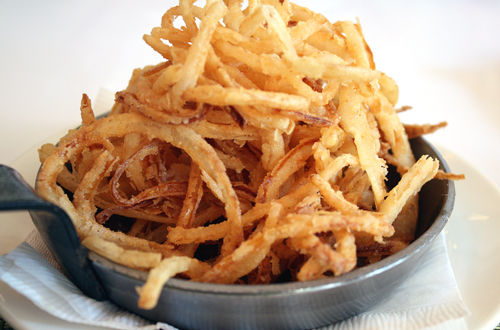 Bet you'll eat more than five onion strings at Five in Berkeley.
