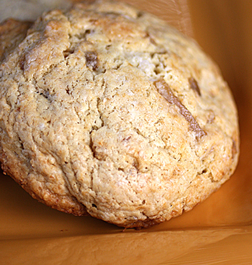 Tender, cakey ginger scones to start your day with.