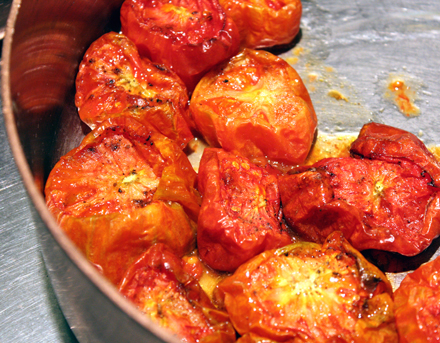 The makings of tomato confit.