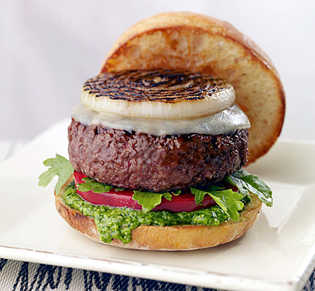 Pesto burger. (Photo courtesy of Burger Bar)