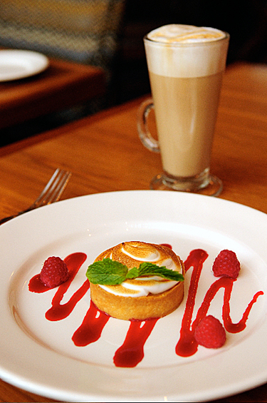 Lemon meringue tart for brunch at 1300 Fillmore. (Photo courtesy of the restaurant)