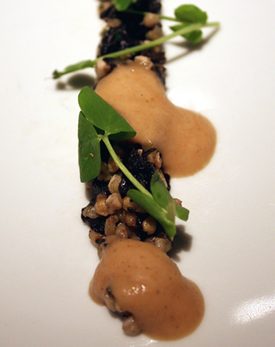 An unusual buckwheat amuse.