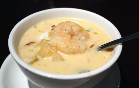 A rich, warming bowl of coconut soup.
