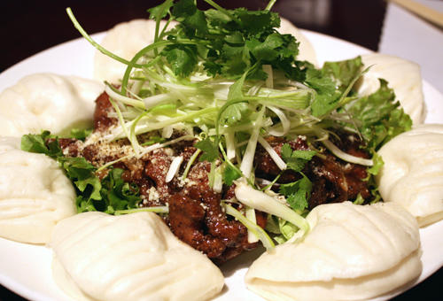 Lamb with steamed buns -- a dish I would go back for again and again.