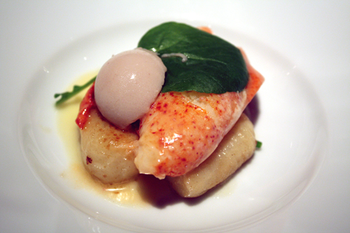 Tender lobster with fluffy gnocchi.