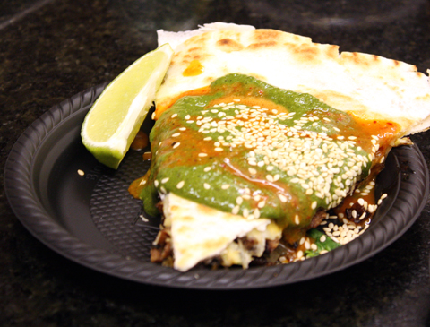 "The ""Blackjack Quesadilla.''"