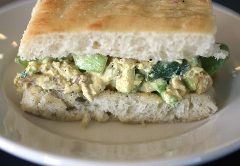 Tony's inventive take on a chicken salad sandwich.