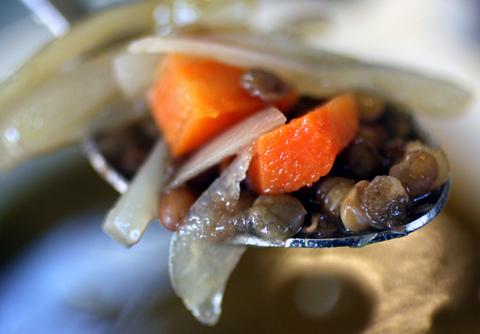 Vegan lentil soup.