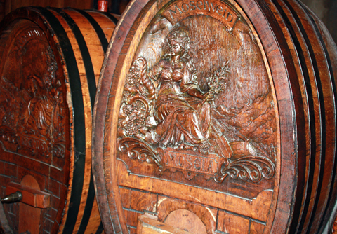 One-of-a-kind, hand-carved barrels.