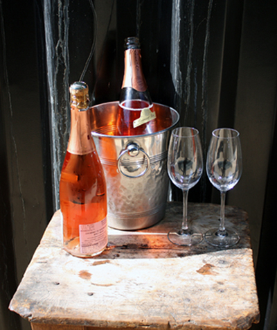 Glasses of bubbly greet visitors to Saison.