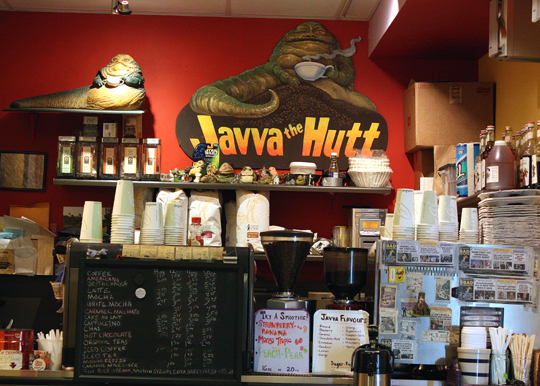 Enjoy a cup of Joe at Javva the Hut.