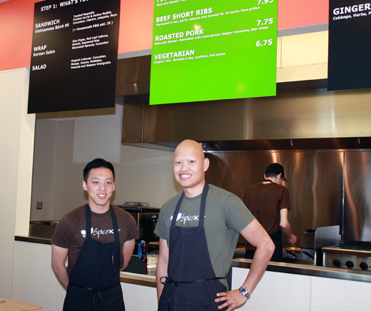 Fred Tang, right, and Will Pacio, left, of Spice Kit.