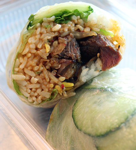 Ssam -- a Korean version of a burrito -- at Spice Kit.