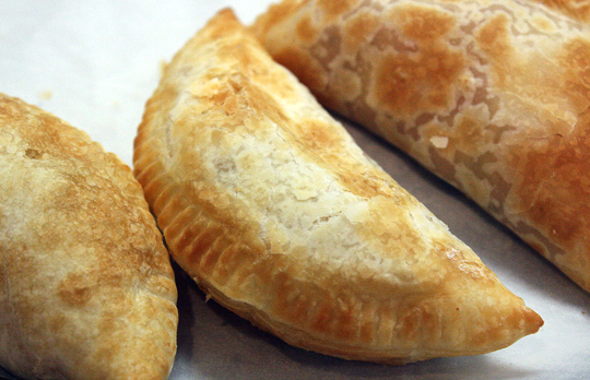 Flaky, pastry-like crusts with assorted fillings.
