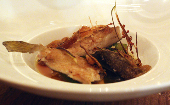 You can eat pretty much every bit of this small Japanese sweetfish. And we did.