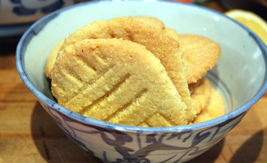 Crunchy cornmeal cookies.