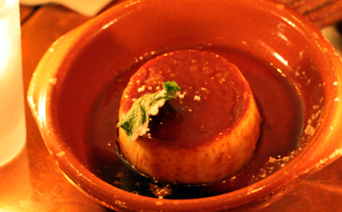 A traditional flan.