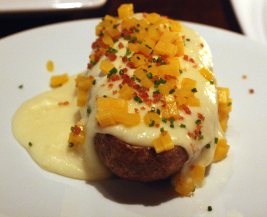 A loaded -- and I mean &quot;loaded'' -- baked potato.