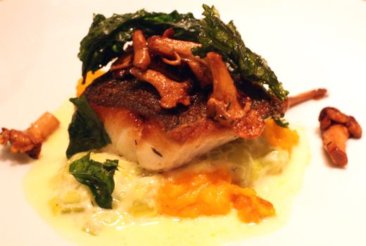 Black cod with chanterelles.