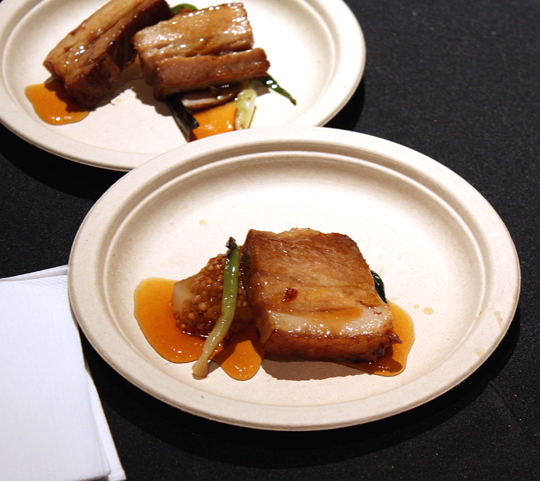 David Chang's pork belly dish.