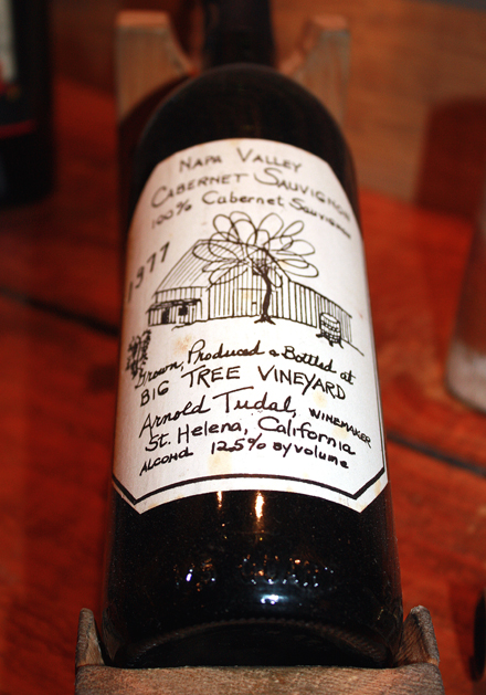 The first vintage made by Tudal Winery, which includes a hand-drawn label done by John Tudal's mother.