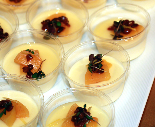 Sheep's milk panna cotta with yuzu gelee from Chef Takashi Yagihashi of Takashi in Chicago.