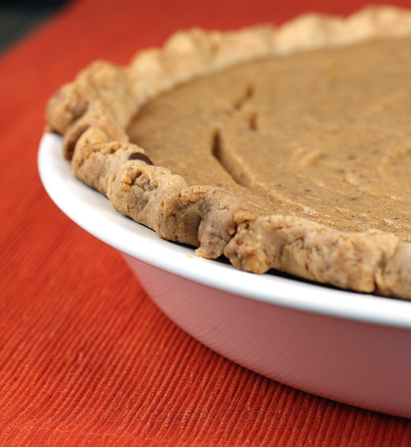 Nope, not pumpkin pie, but parsnip pie.