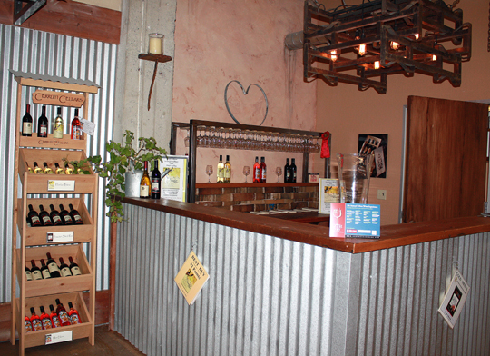 The main tasting room at Cerruti Cellars.