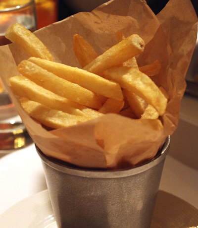 A brasserie wouldn't be complete without fries, right?