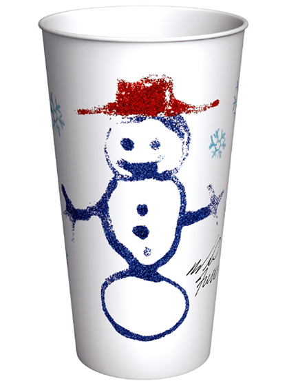Funny man Will Ferrell designed this coffee cup for 7-Eleven. (Photo courtesy of 7-Eleven)