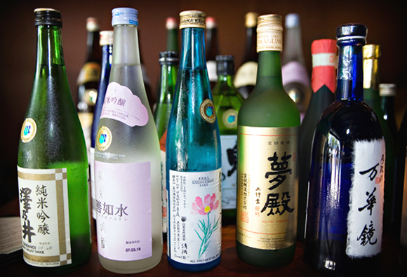 An array of sakes at Ozumo in Oakland. (Photo courtesy of the restaurant)