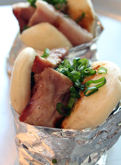Spice Kit's pork belly bun -- a thing of beauty.