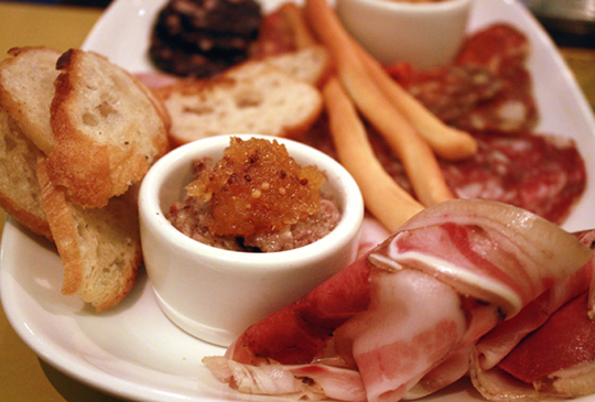 Dig in to a platter of salumi at Barbacco.