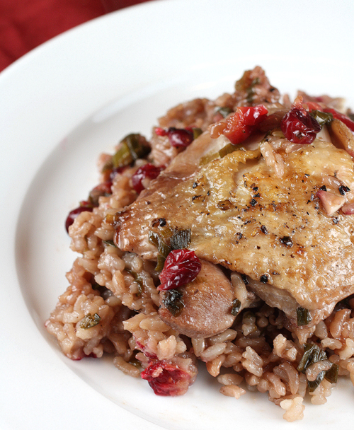 Cranberries and hoisin sauce give this chicken dish a twist.