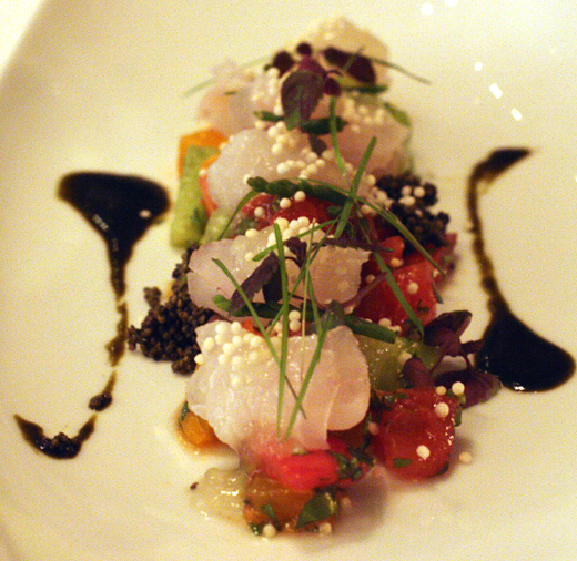 Dishes like this beautiful sashimi reinforce the notion that you're not an your average steakhouse.