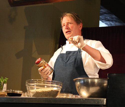 Chef Colin Ambrose, making his specialty granola.