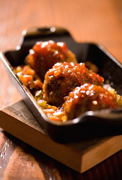 Tender meatballs at Farmstead Restaurant. (Photo courtesy of the restaurant)