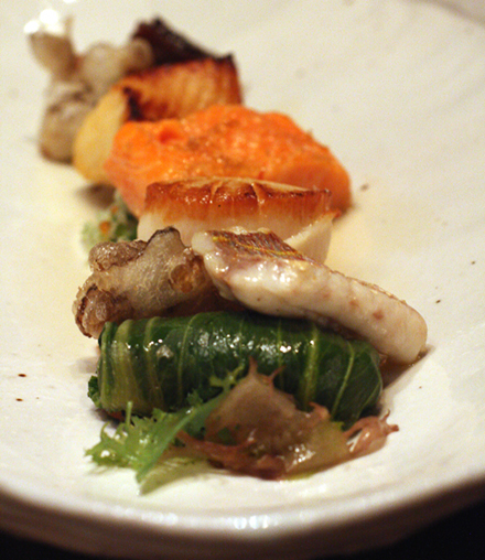 "The ""Five Seas Tasting of Japanese Fish.''"