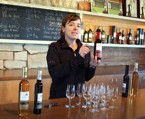 A tasting of icewines.