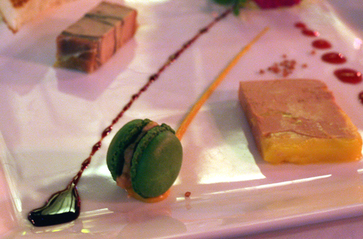 A foie gras-matcha macaron. Believe it.