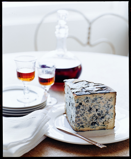 Blue cheese with fortified wine -- a match made in heaven. (Photo courtesy of Chronicle Books)