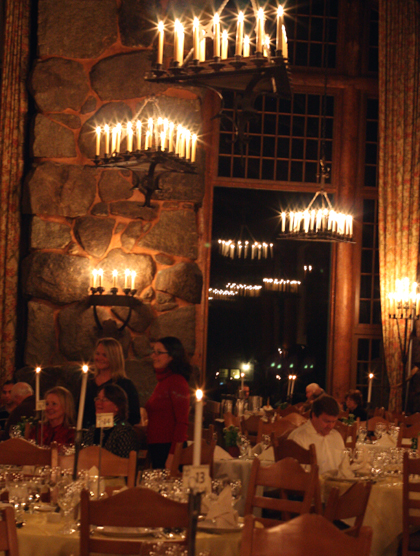 The grand dining room.
